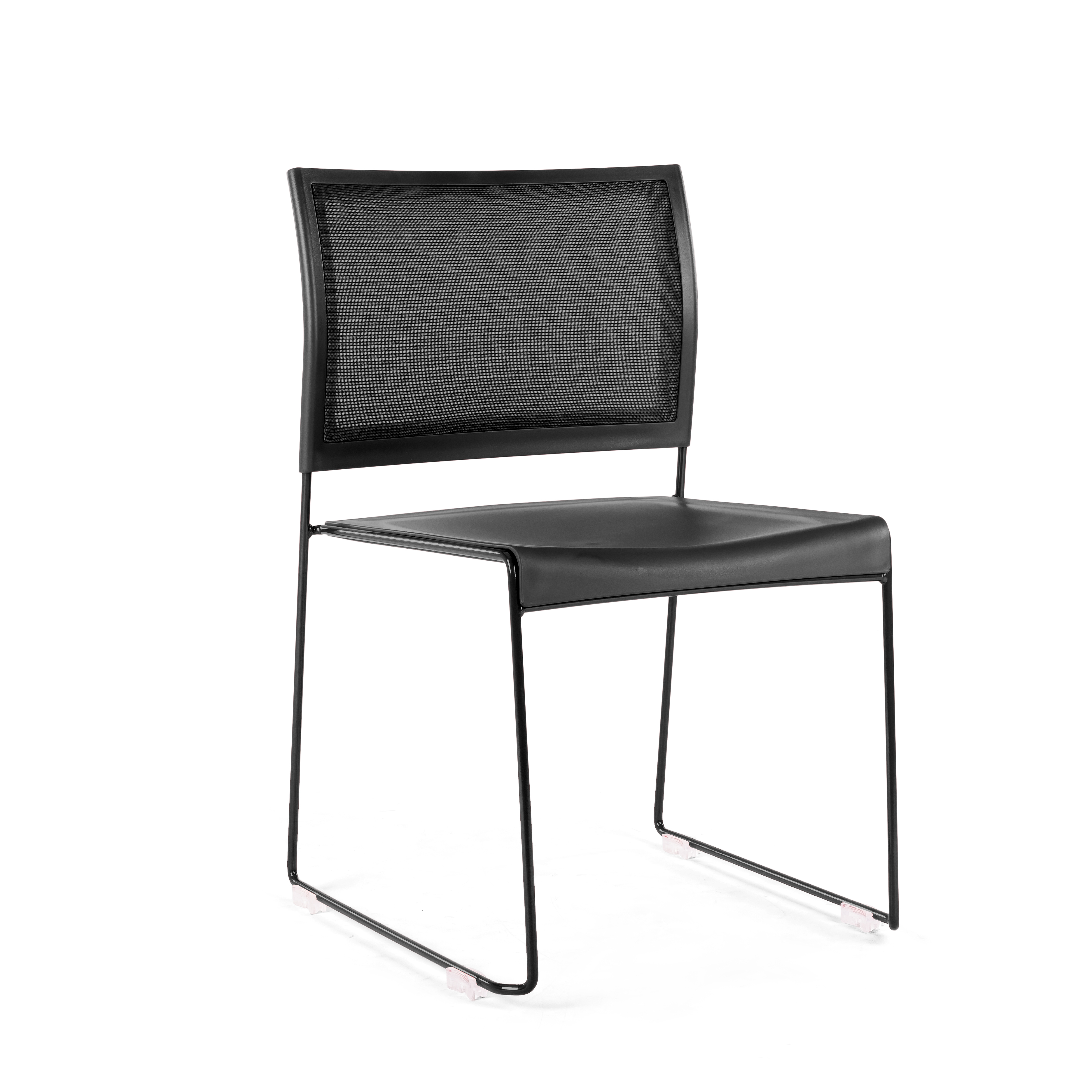 PS Furniture PC401C-CH-BL-BL chair, side, stacking, indoor
