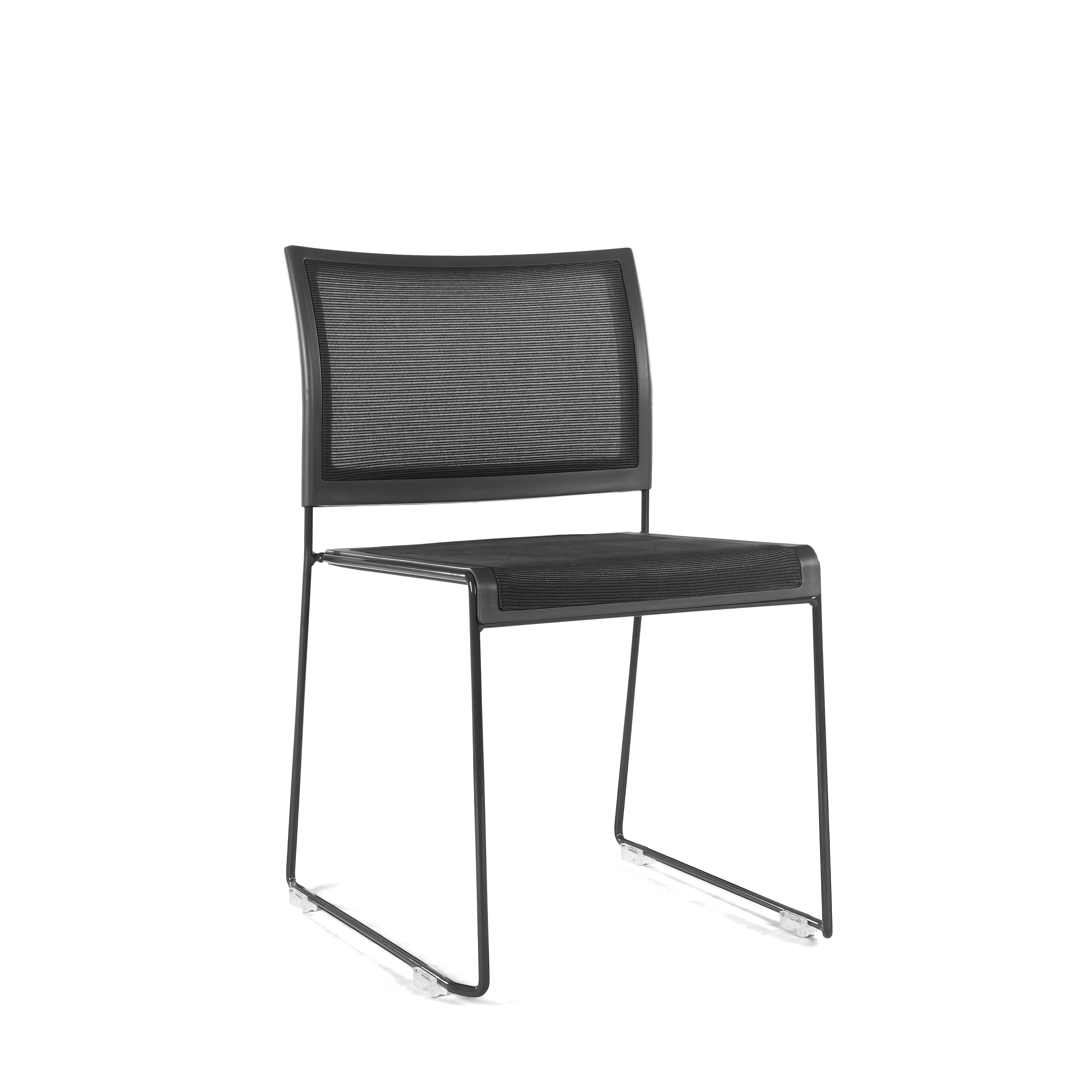 PS Furniture PC402C-CH-BL-BL chair, side, stacking, indoor