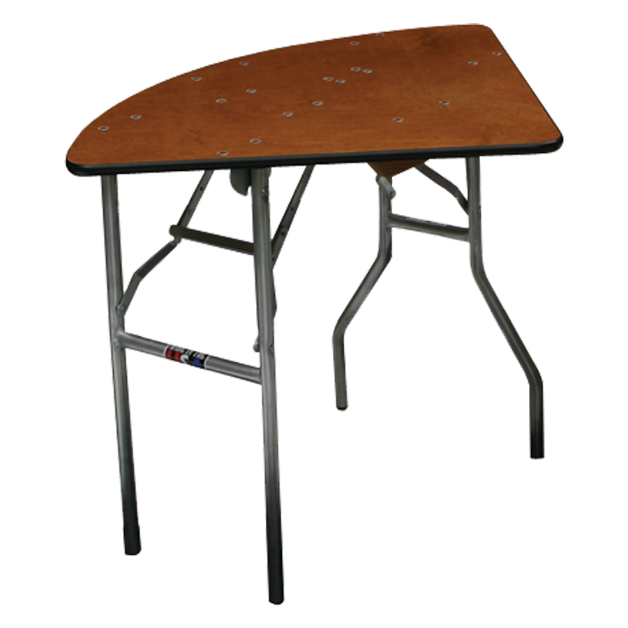 PS Furniture QT60XXB-SW folding table, round