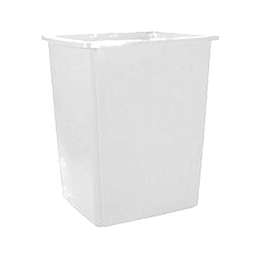 Rubbermaid Commercial Products FG256B00OWHT trash receptacle, outdoor/indoor