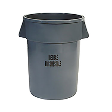 Rubbermaid Commercial Products FG264356GRAY trash can / container, commercial