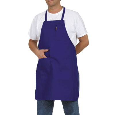 Royal Industries RBA 434 RB PKT bib apron