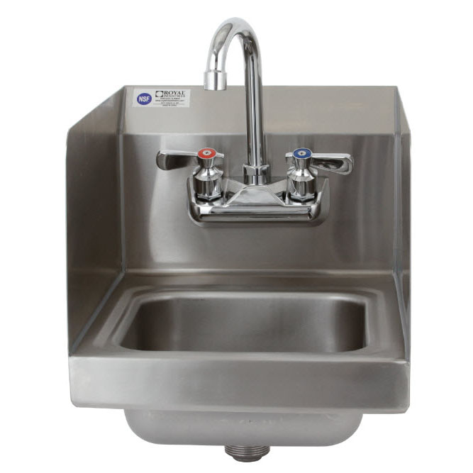 Royal Industries ROY HSSH 12 SP sink, hand