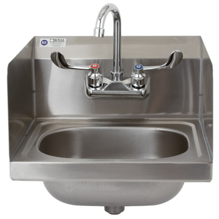 Royal Industries ROY HSW 15 SP sink, hand