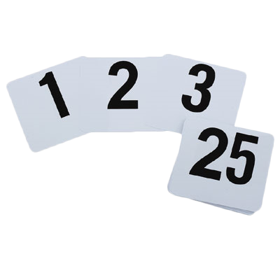 Royal Industries ROY TN 1 100 table numbers cards