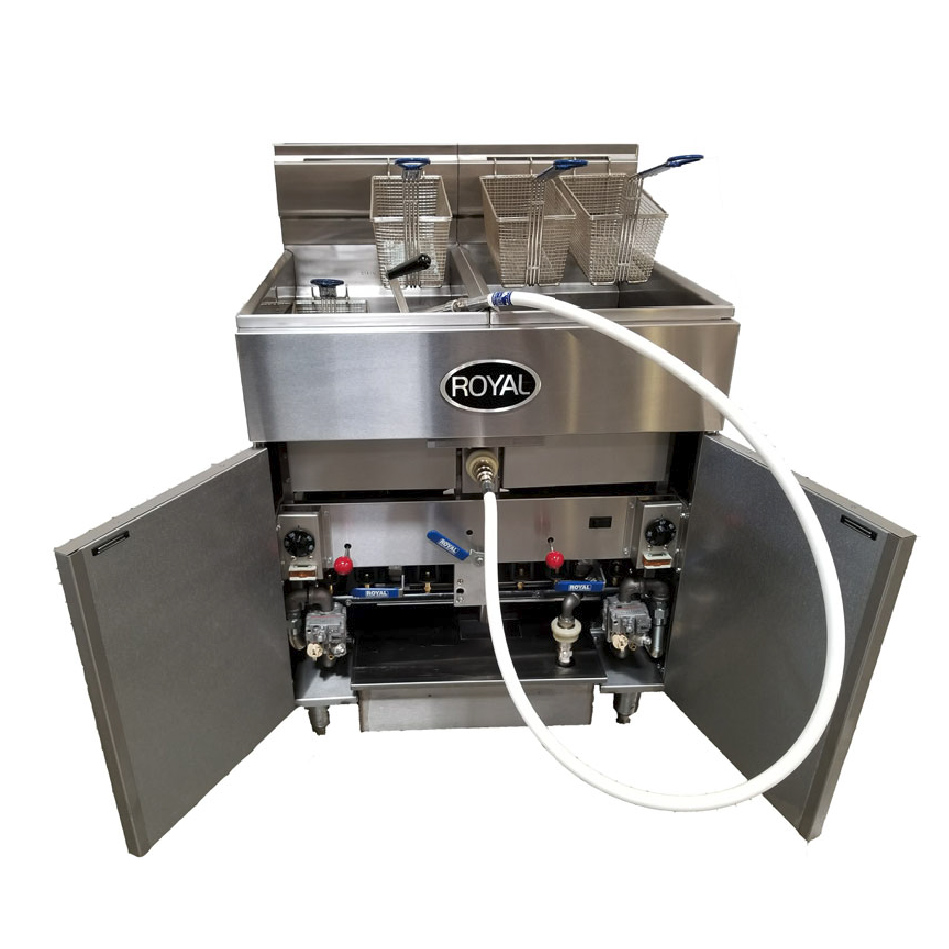 Royal Range of California RFT-50-EM-4-BI fryer, gas, multiple battery