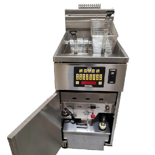 Royal Range of California RHEF-45-CM-1-BI fryer, gas, floor model, full pot