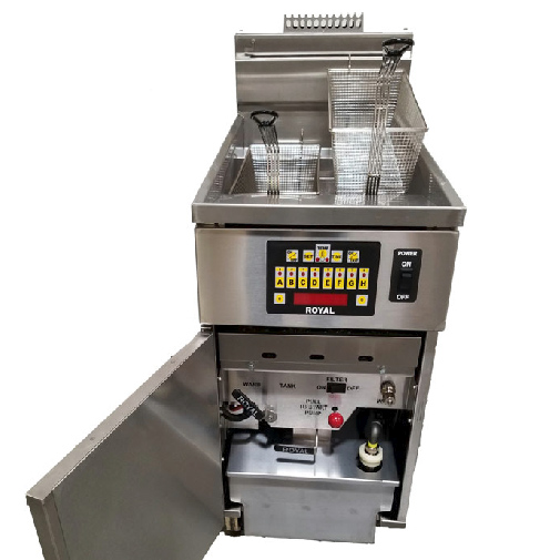 Royal Range of California RHEF-45-CM-4-BI fryer, gas, multiple battery