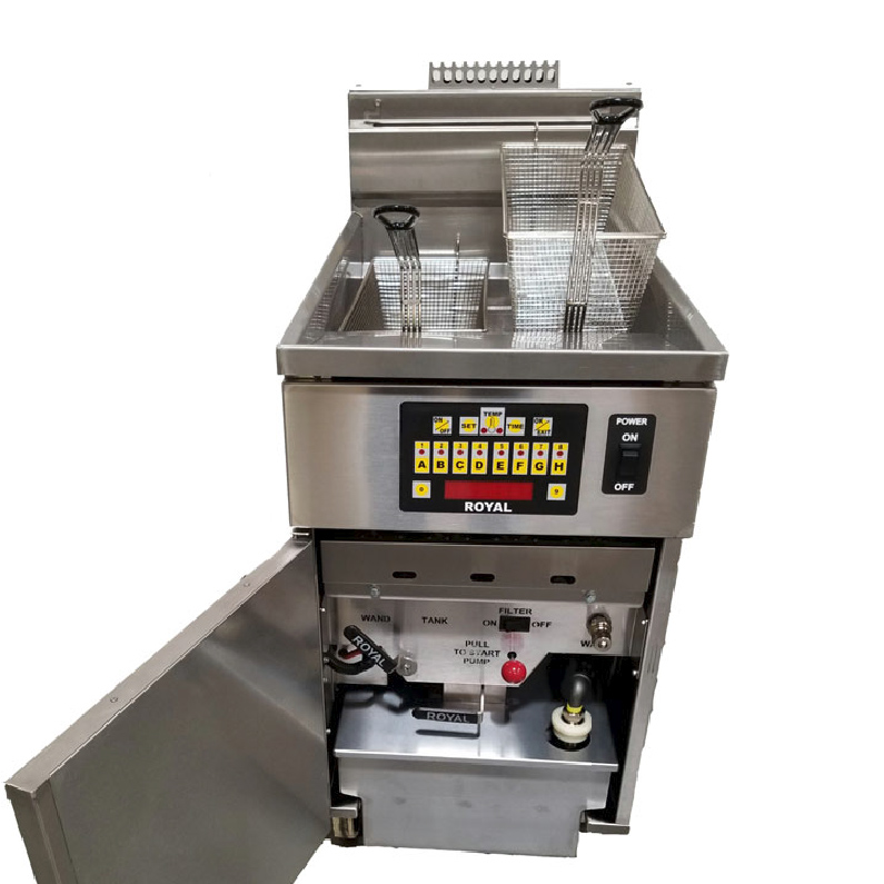 Royal Range of California RHEF-75-DM-5-BI fryer, gas, multiple battery