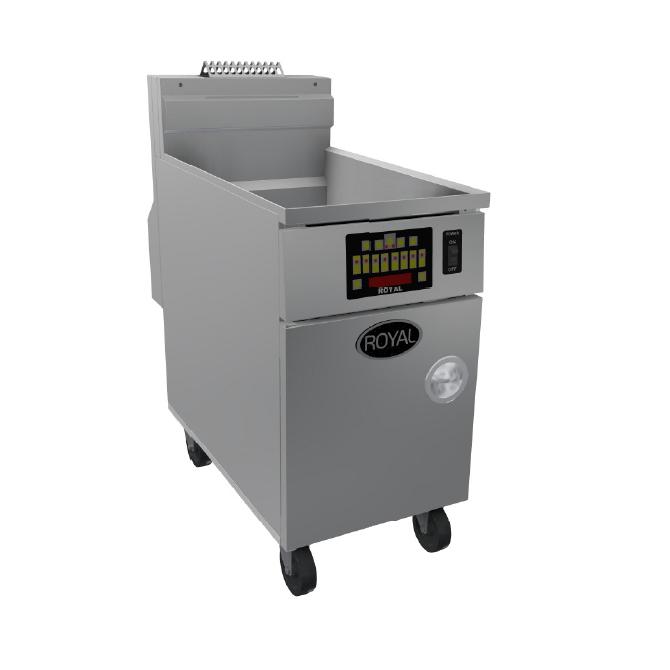 Royal Range of California RHEF-75-EM fryer, gas, floor model, full pot