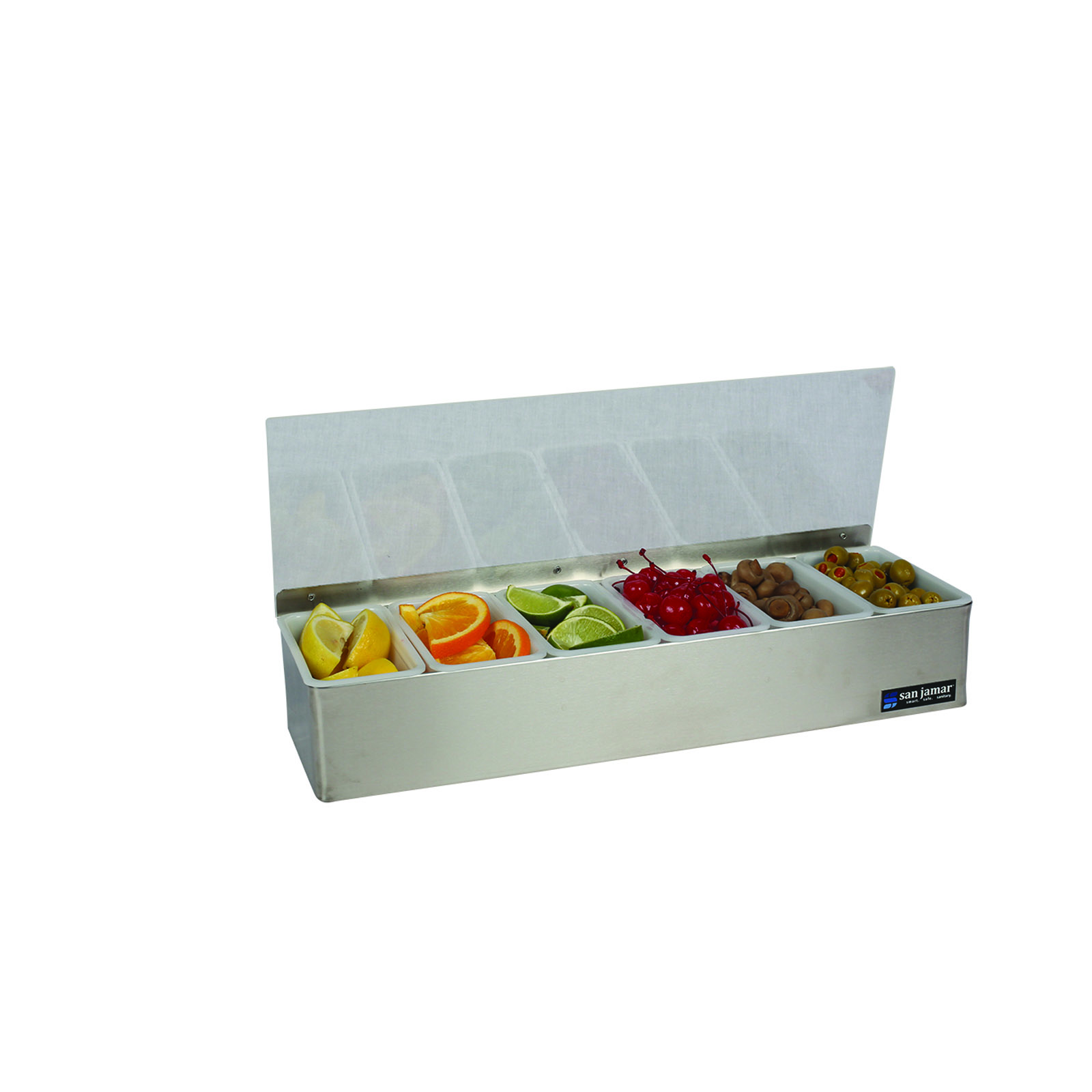 San Jamar B4186LRD bar condiment holder