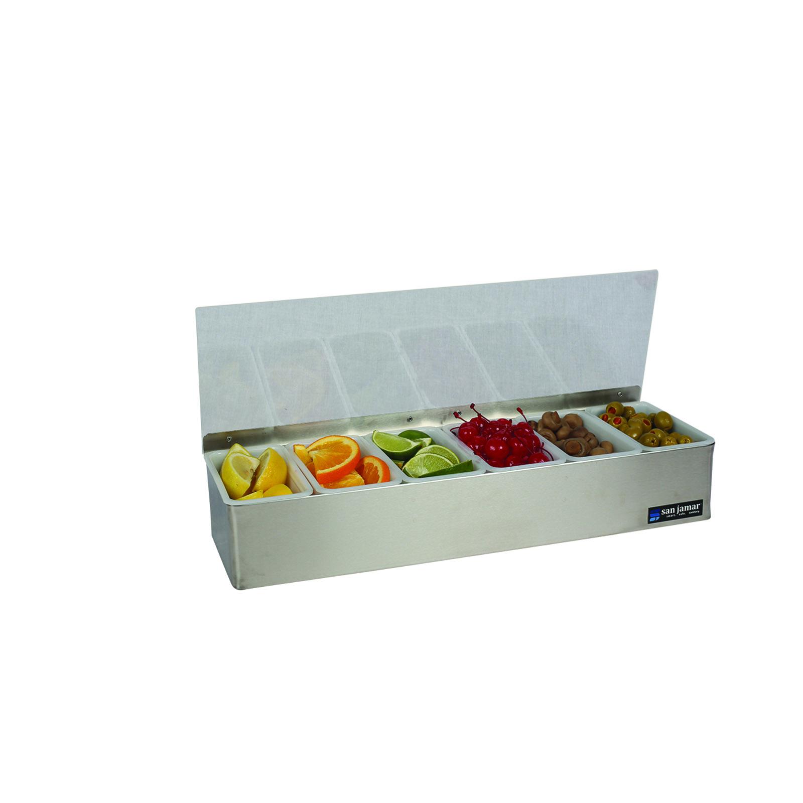 San Jamar B4186LRD bar condiment holder