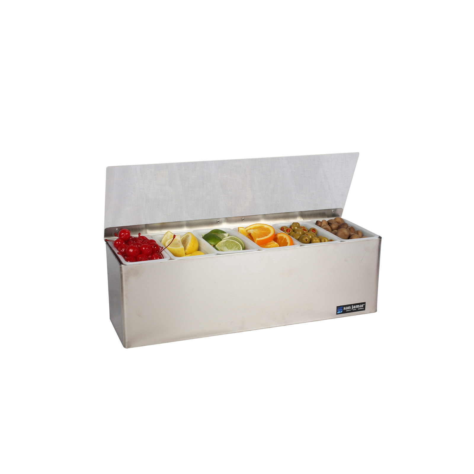 San Jamar B6186L bar condiment holder
