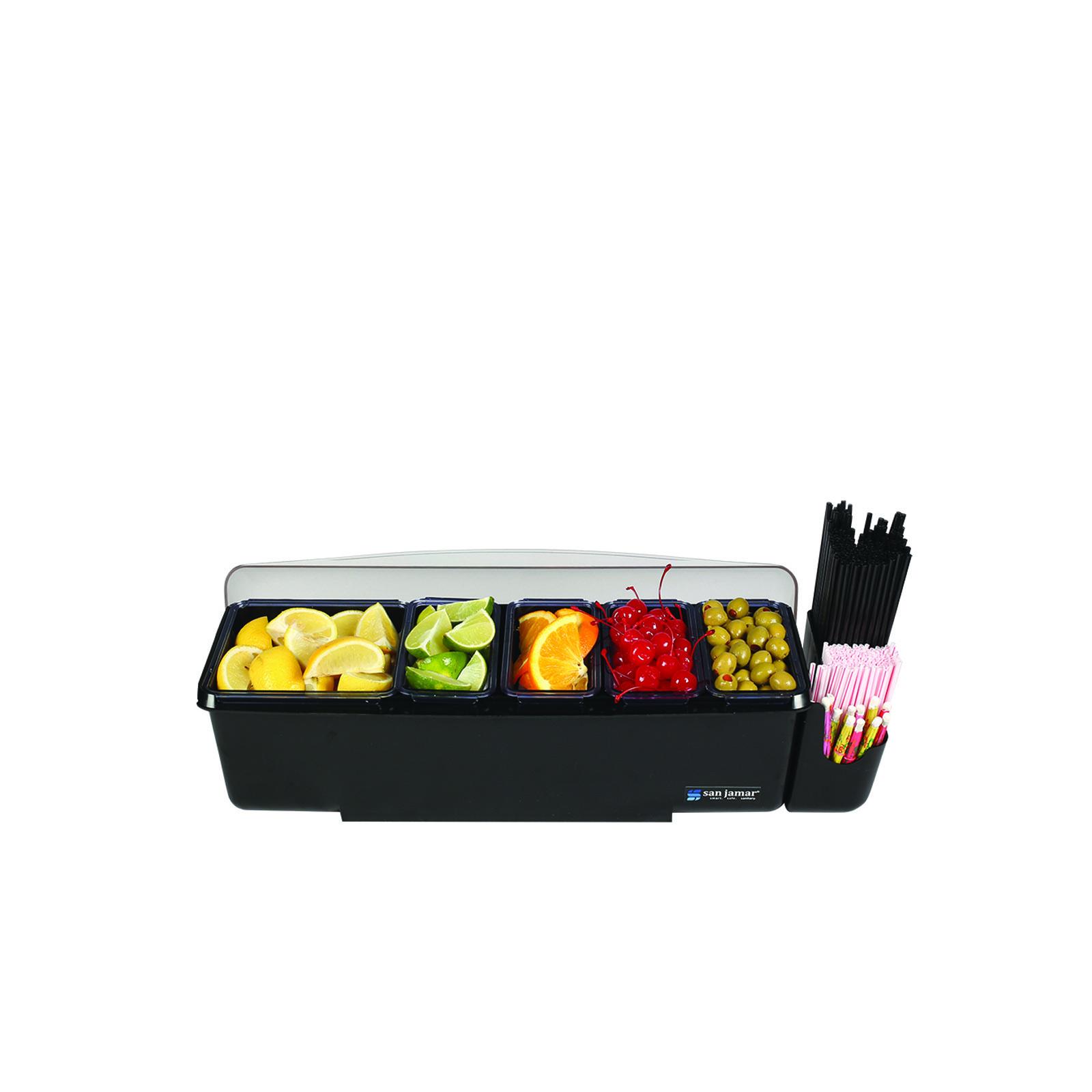 San Jamar BD4005E bar condiment holder