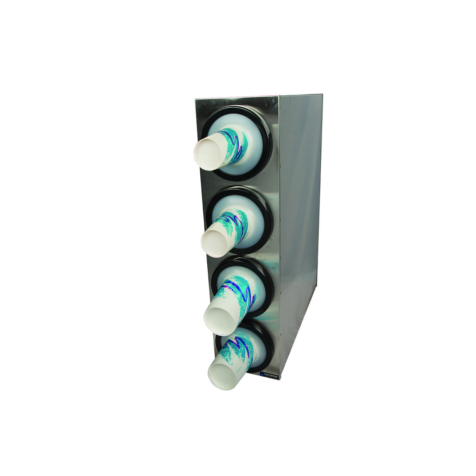 San Jamar C2804 cup dispensers, countertop