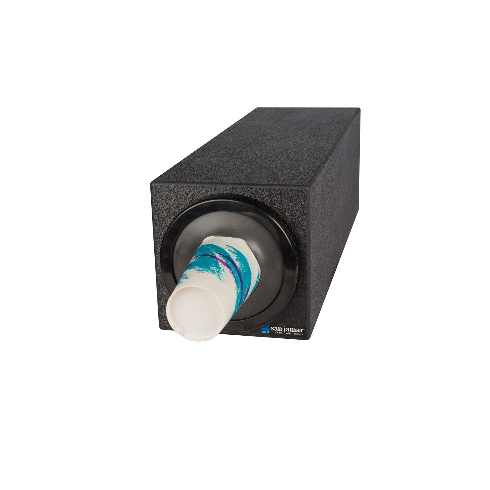 San Jamar C2901BK cup dispensers, countertop