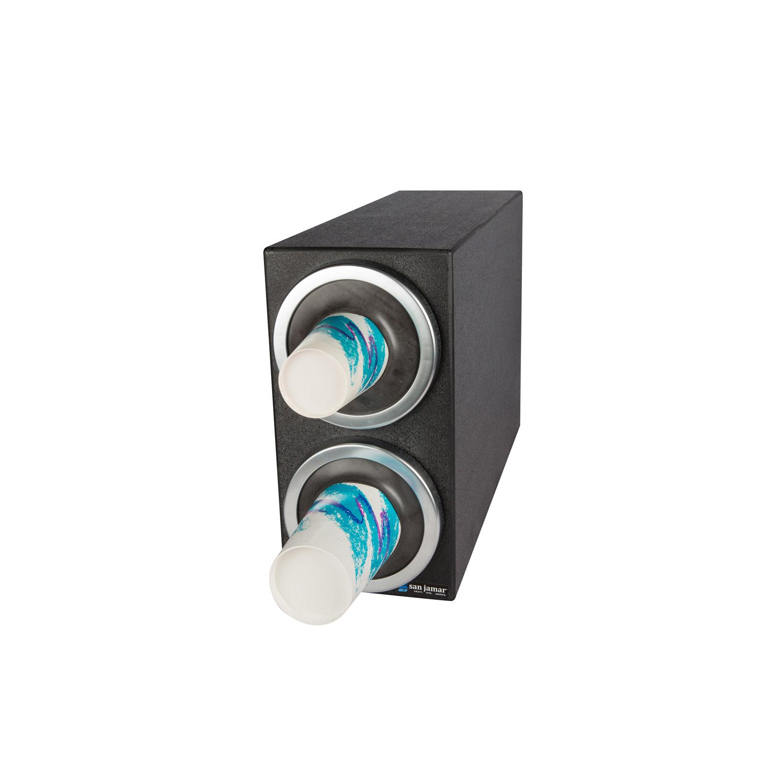 San Jamar C2902 cup dispensers, countertop