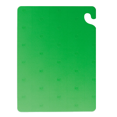 San Jamar CB121812GN cutting board, plastic