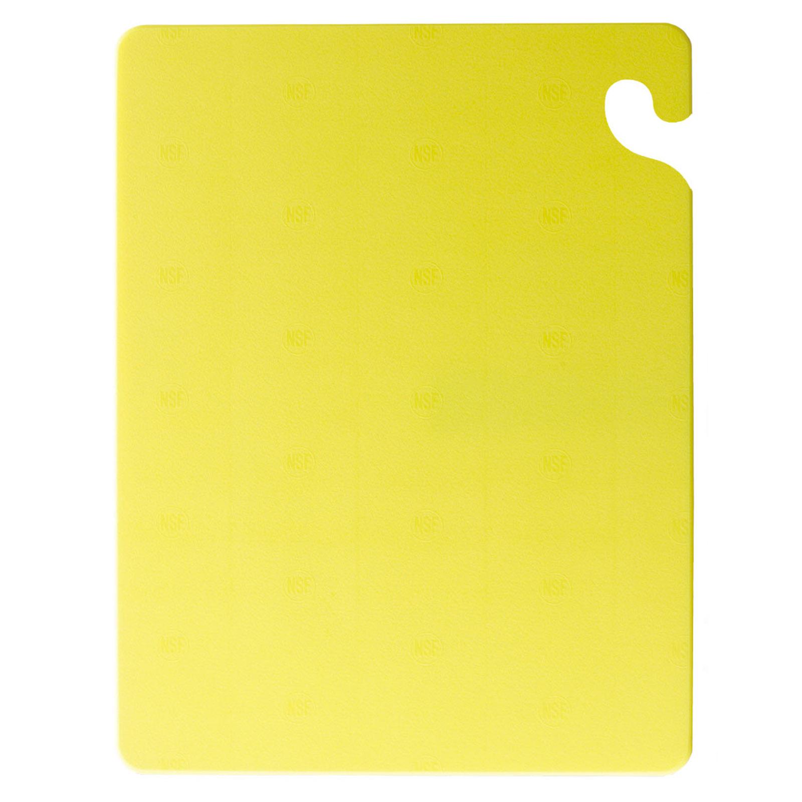 San Jamar CB121812YL cutting board, plastic