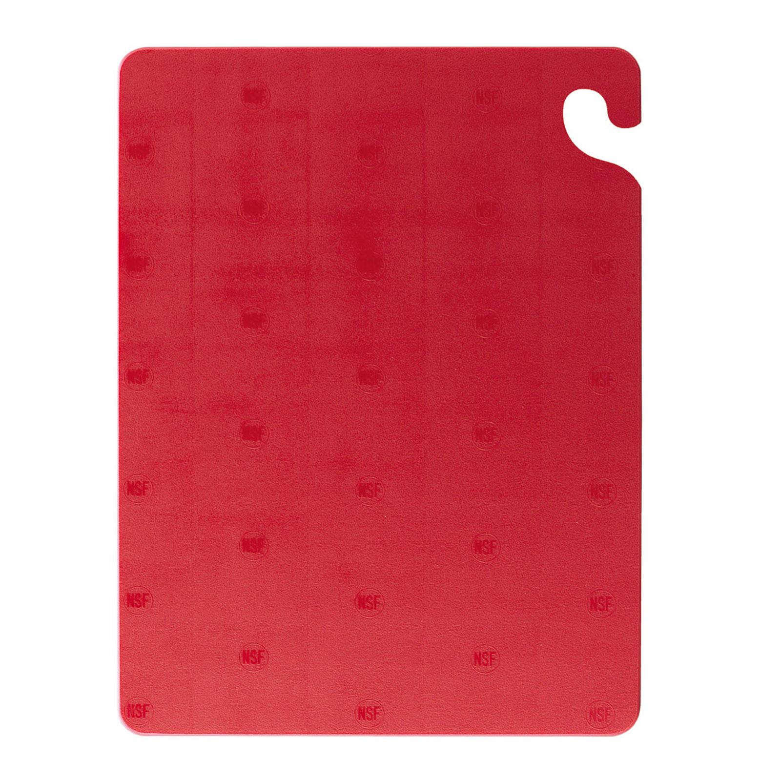 San Jamar CB121834RD cutting board, plastic