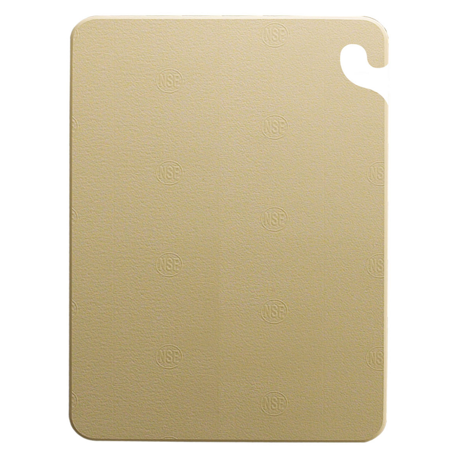 San Jamar CB152012BR cutting board, plastic