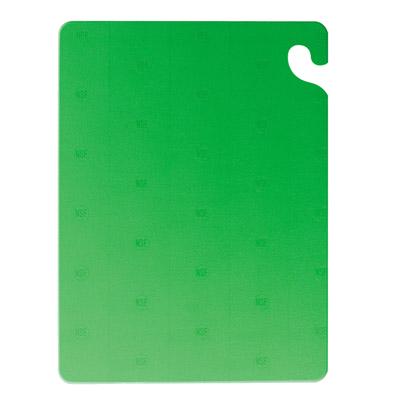 San Jamar CB152012GN cutting board, plastic
