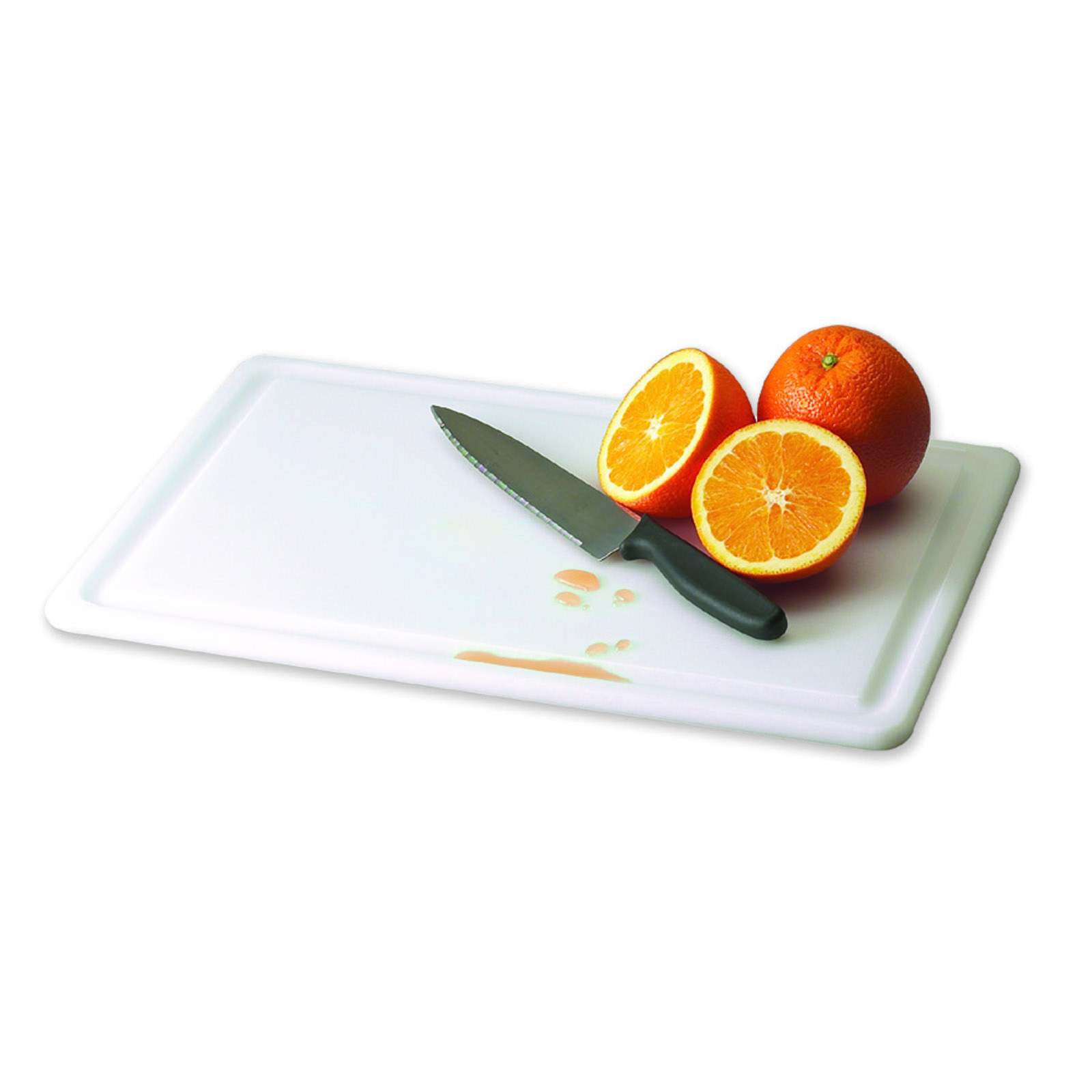San Jamar CB182412GVWH cutting board, plastic