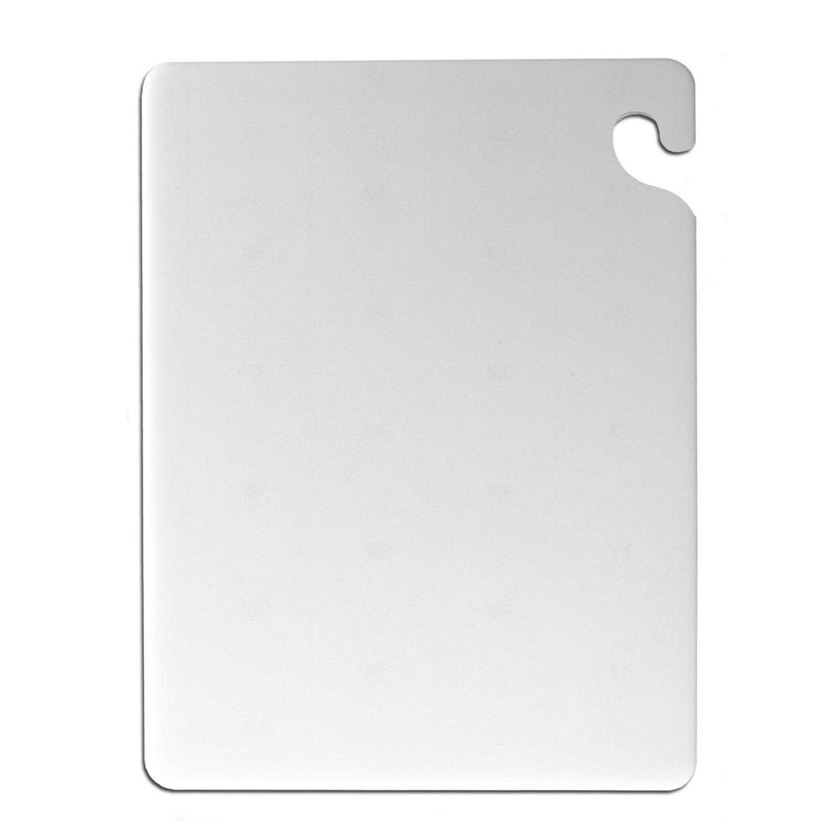 San Jamar CB182412WH cutting board, plastic
