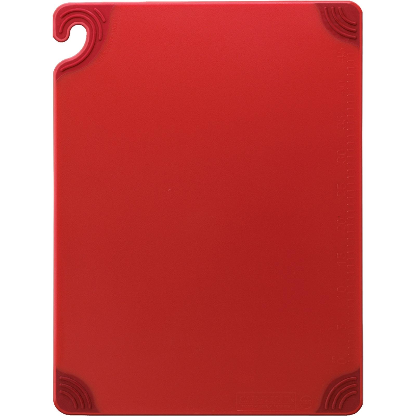 San Jamar CBG121812RD cutting board, plastic
