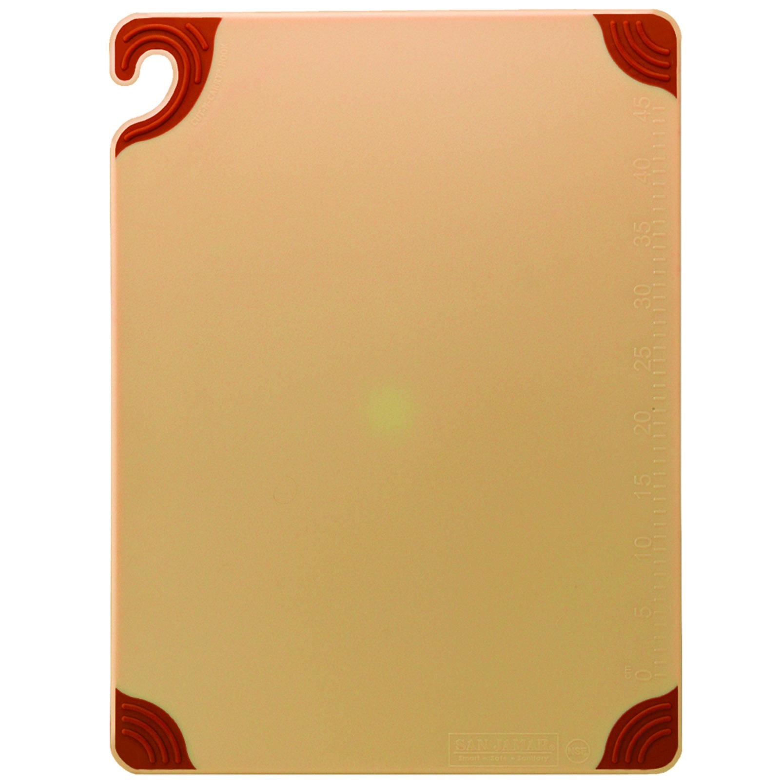 San Jamar CBG152012BR cutting board, plastic