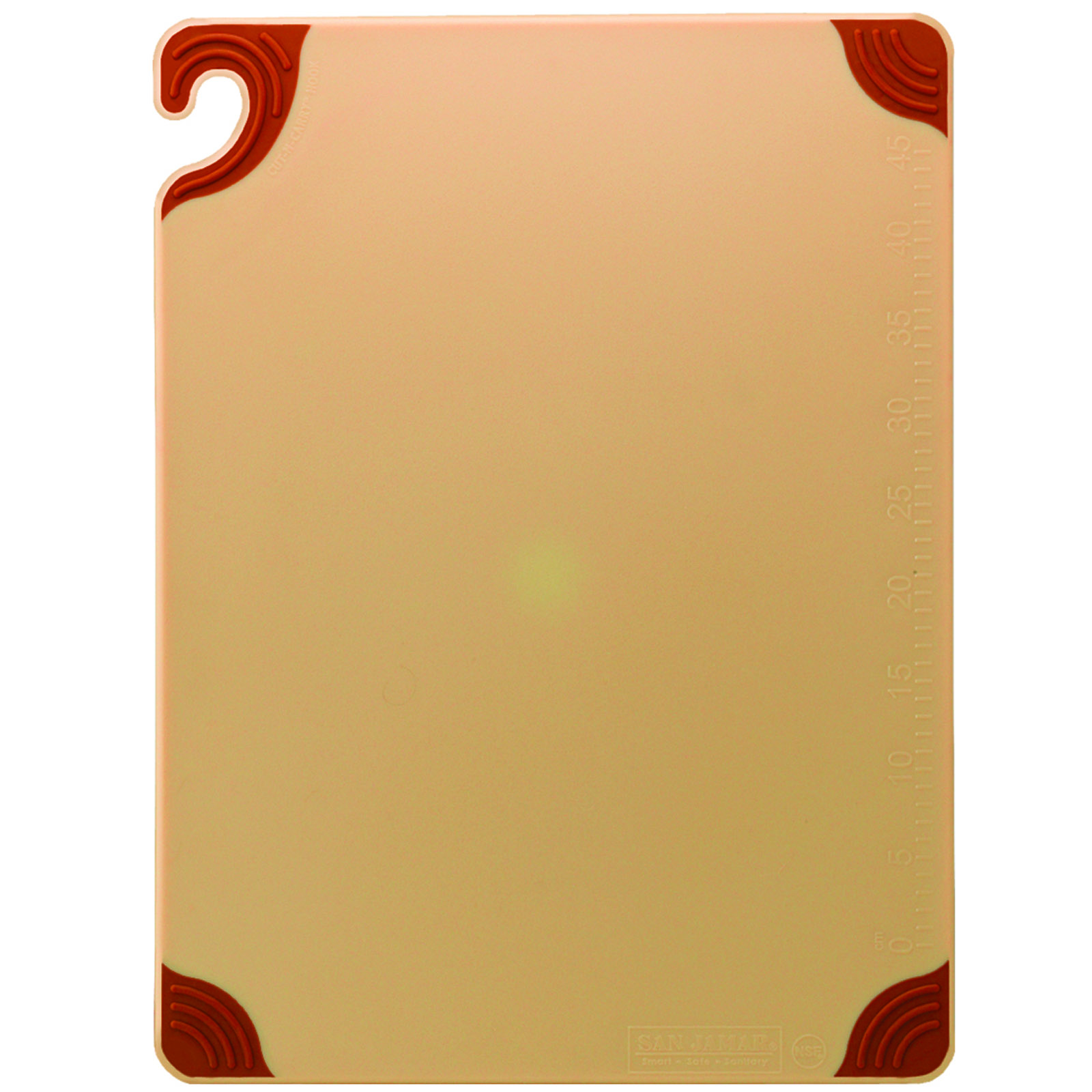 San Jamar CBG182412BR cutting board, plastic