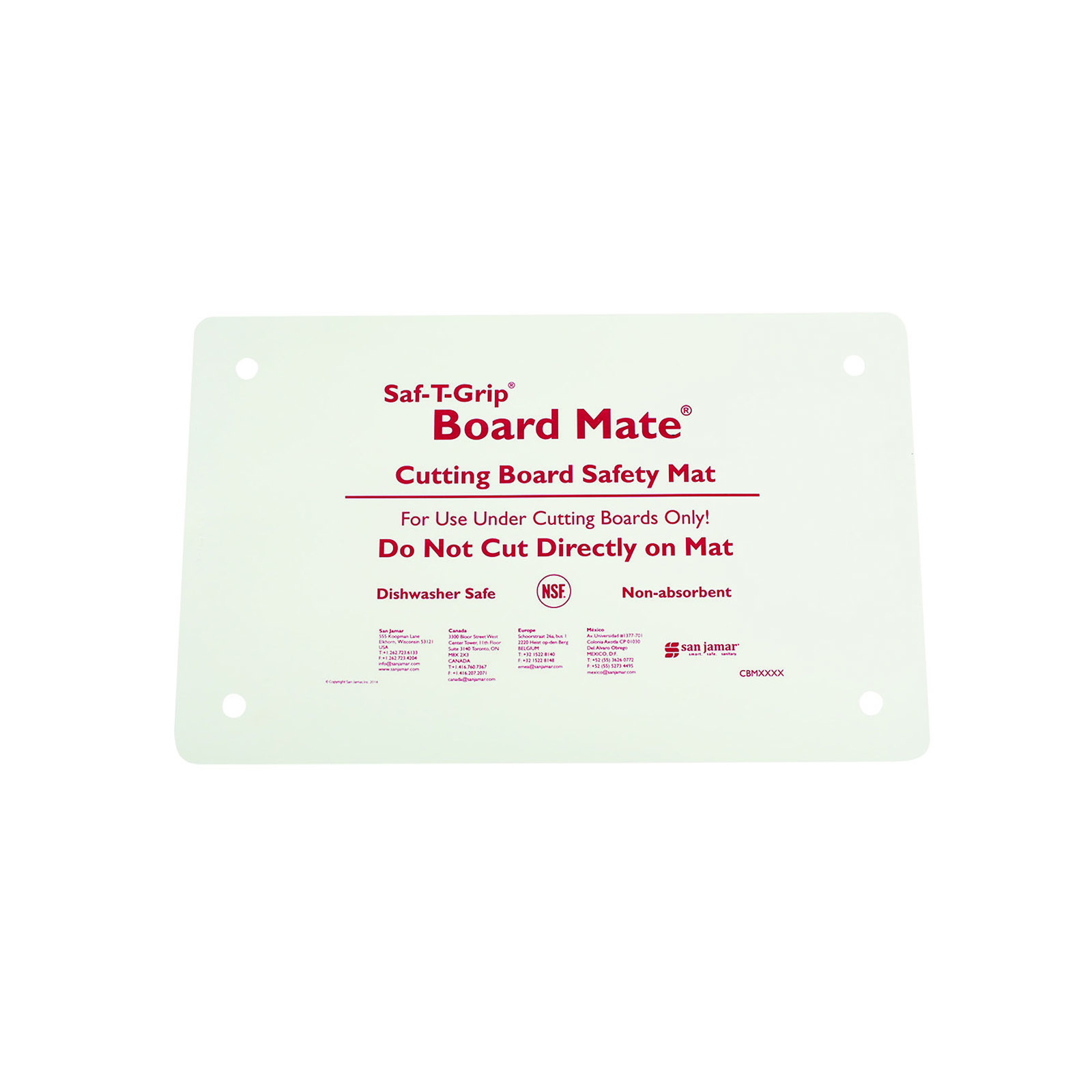 San Jamar CBM1016 cutting board mat