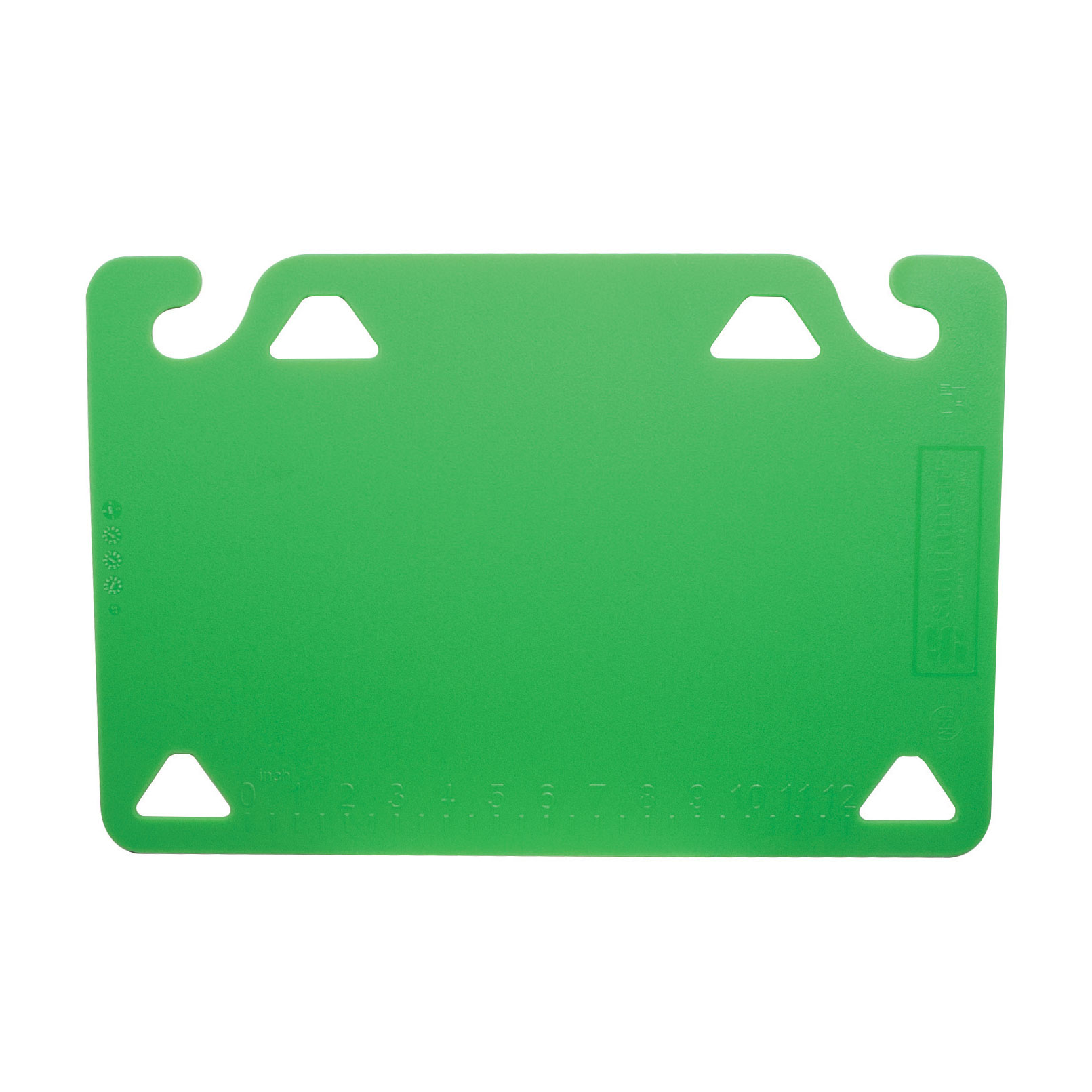 San Jamar CBQG1218GN cutting board, plastic