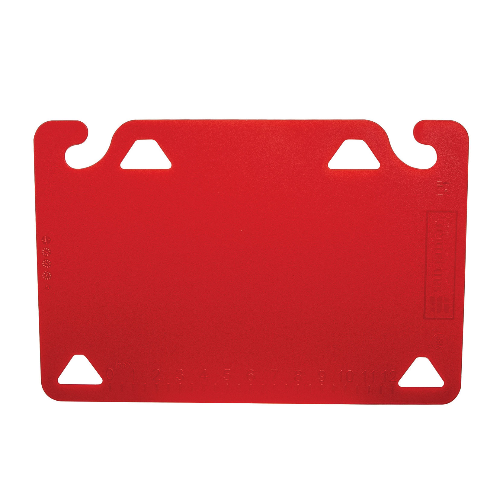 San Jamar CBQG1218RD cutting board, plastic
