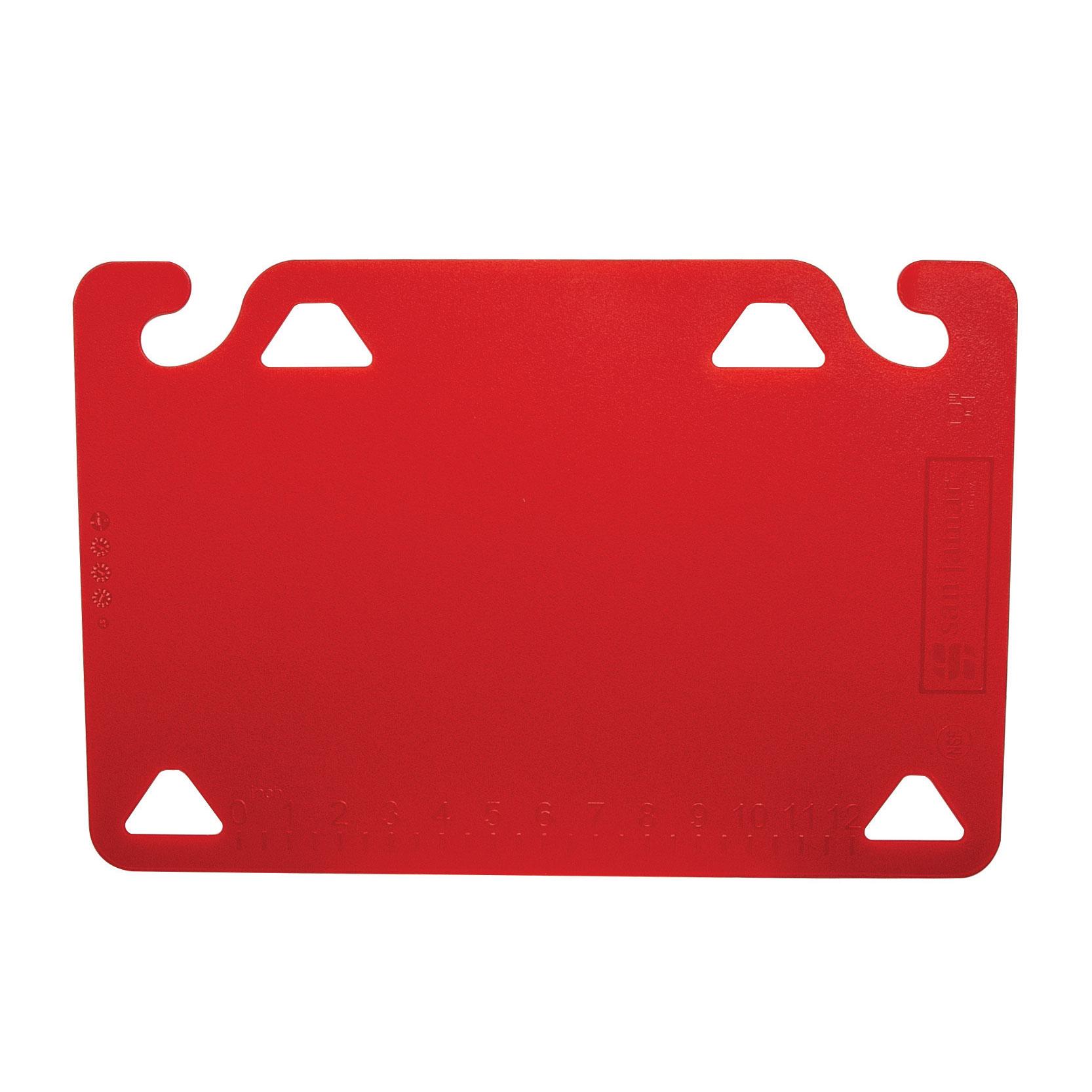 San Jamar CBQG1824RD cutting board, plastic