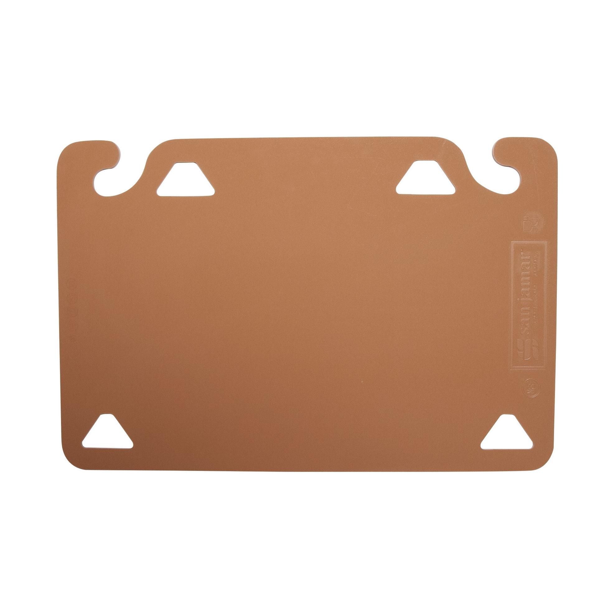 San Jamar CBQGSC1520BR cutting board, plastic