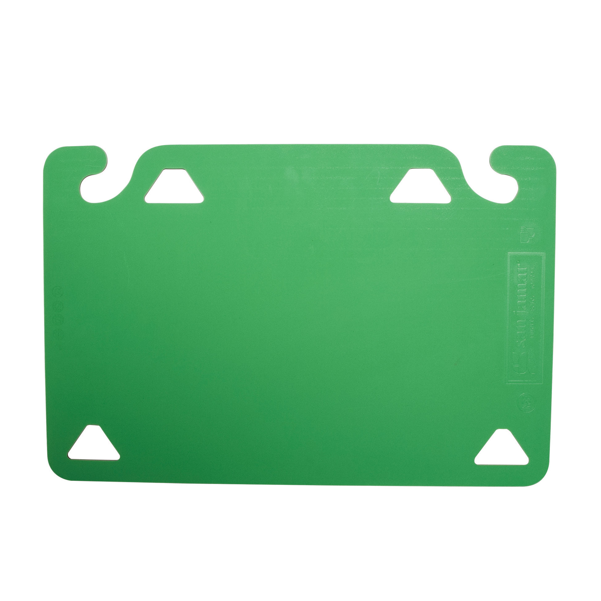 San Jamar CBQGSC1824GN cutting board, plastic