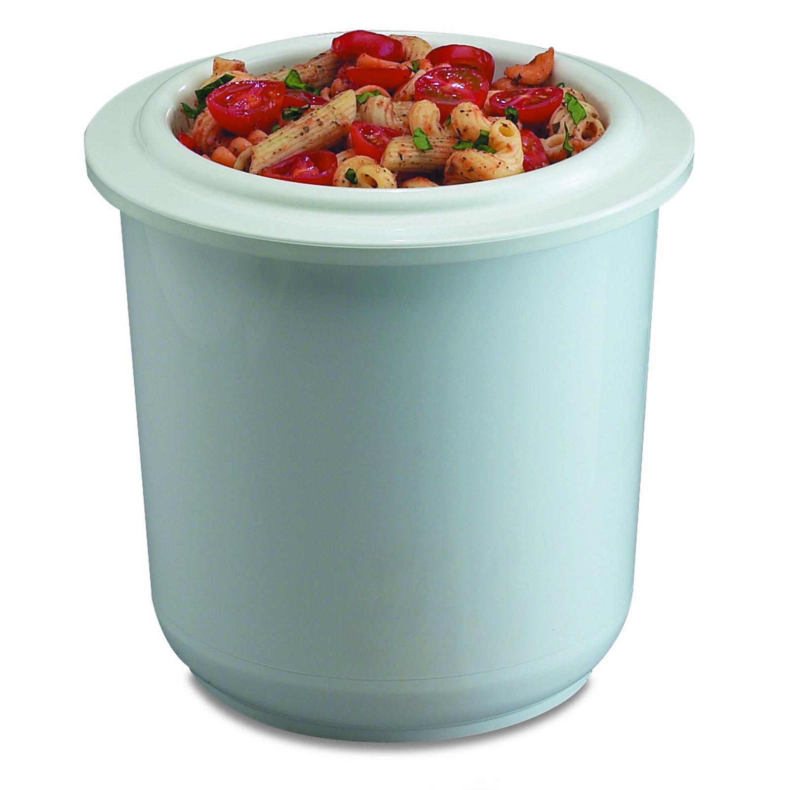 San Jamar CI7015WH salad crock, plastic