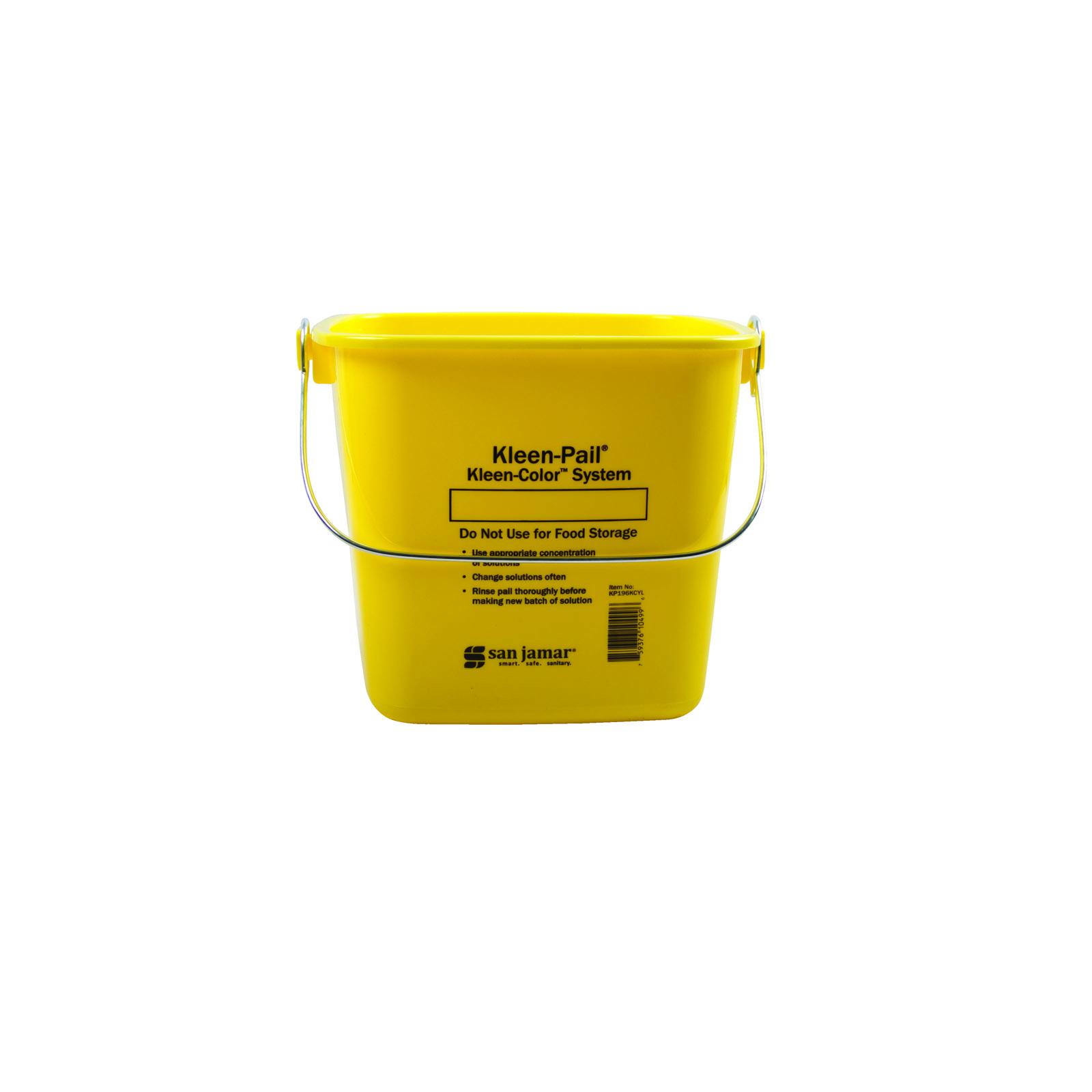 San Jamar KP196KCYL bucket