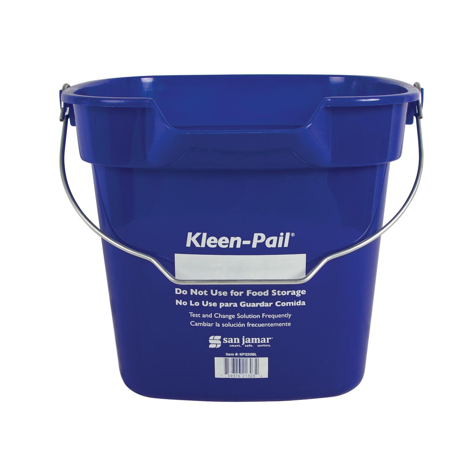 San Jamar KP320BL bucket