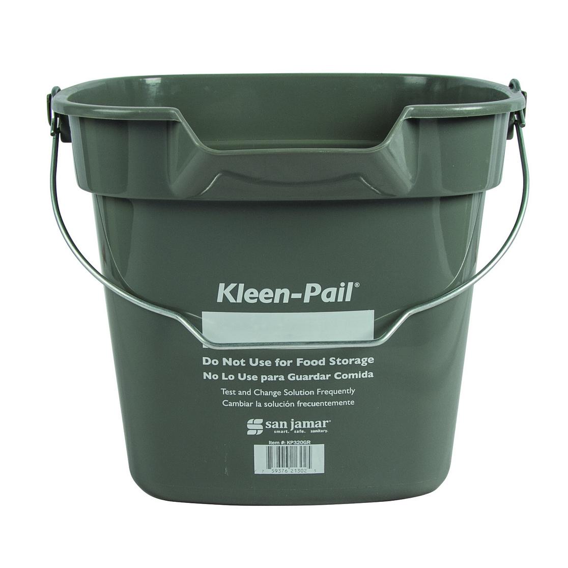 San Jamar KP320GR bucket