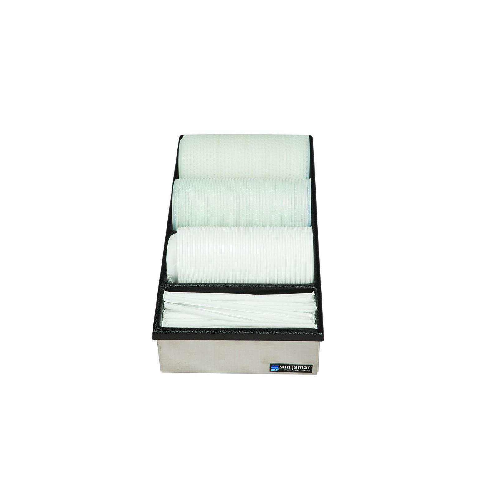 San Jamar L2150 lid dispenser, countertop