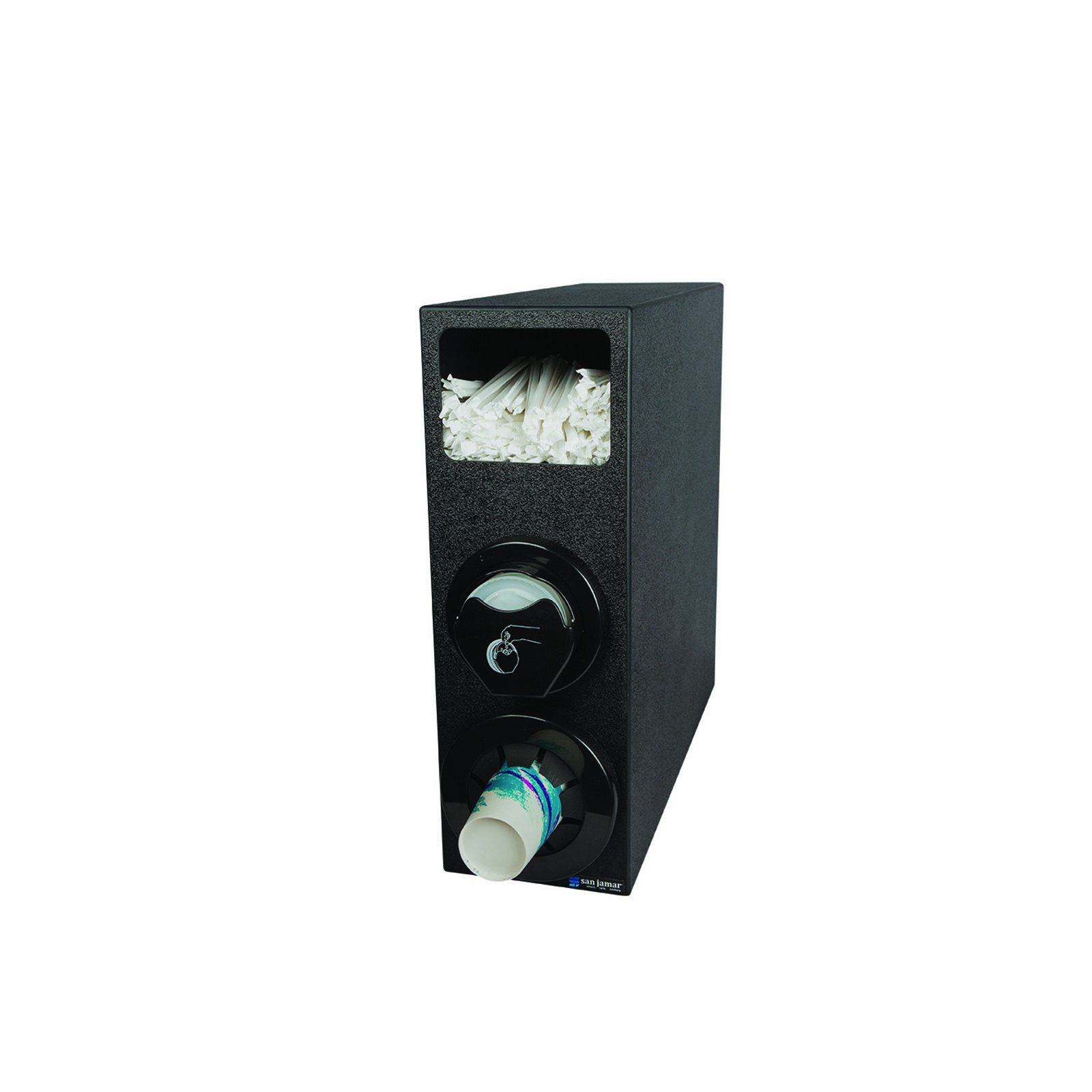 San Jamar L22CS2951BK cup dispensers, countertop