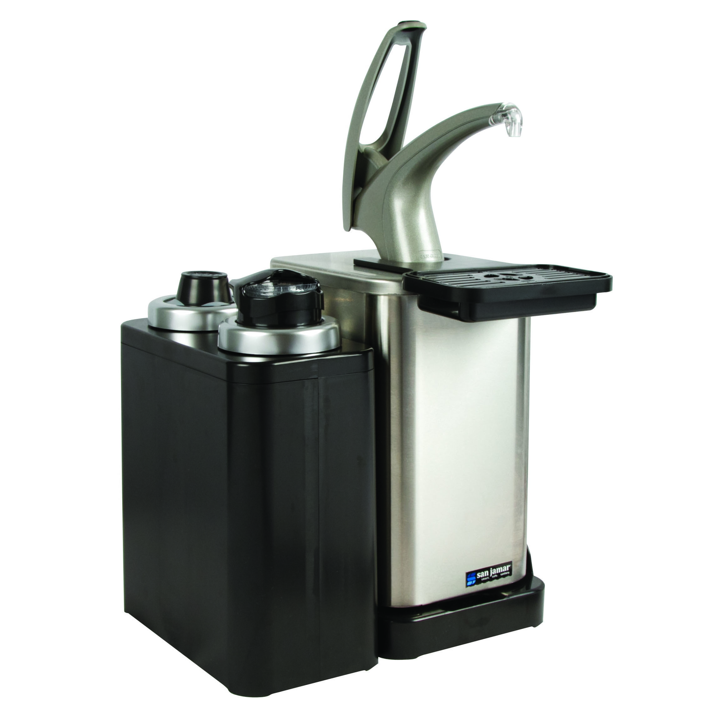 San Jamar MODP4900CL condiment dispenser pump-style