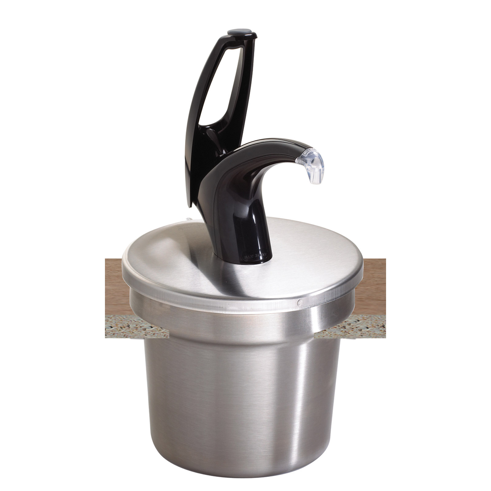 San Jamar P4710BK condiment dispenser pump-style