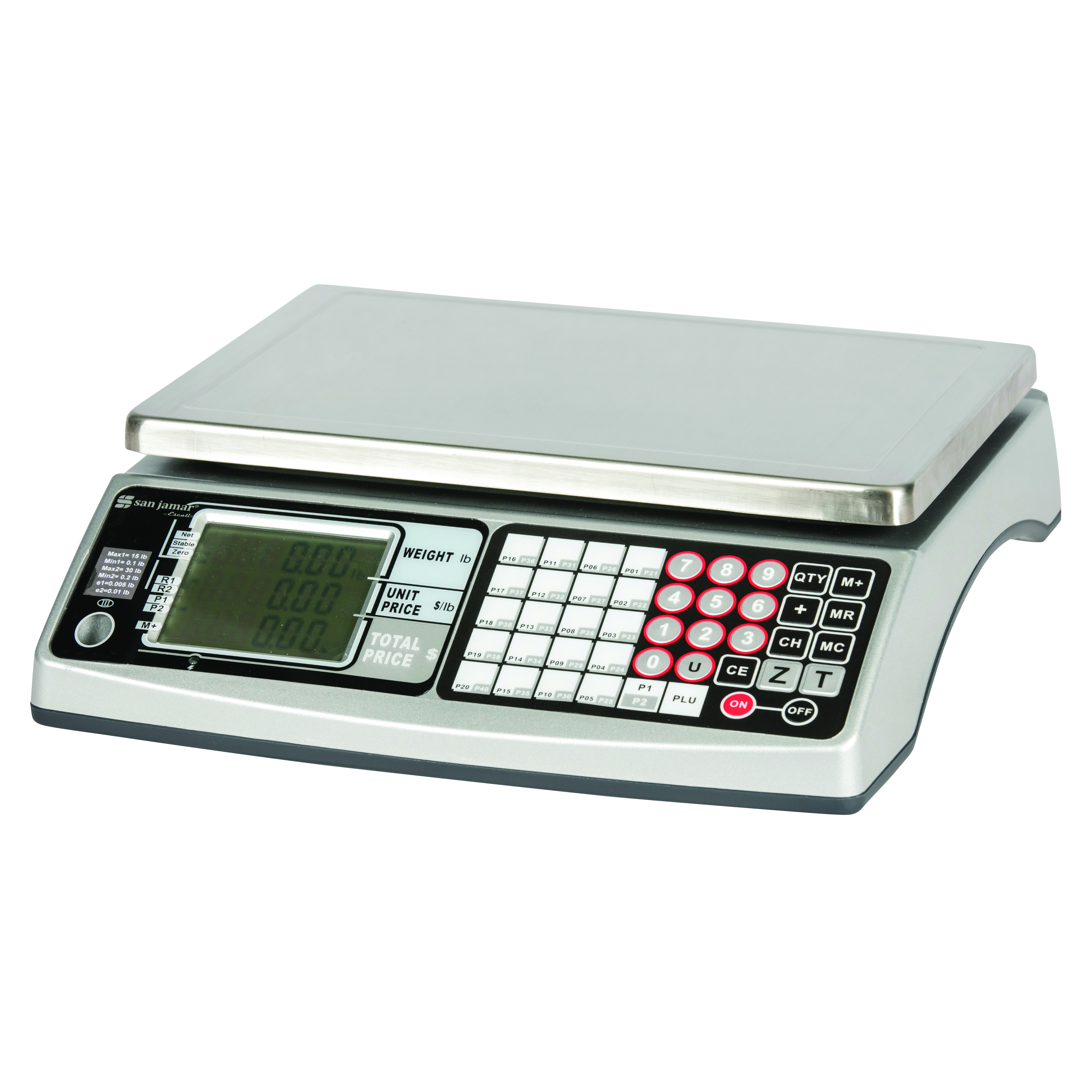 San Jamar SCDG30LFT scale, price computing