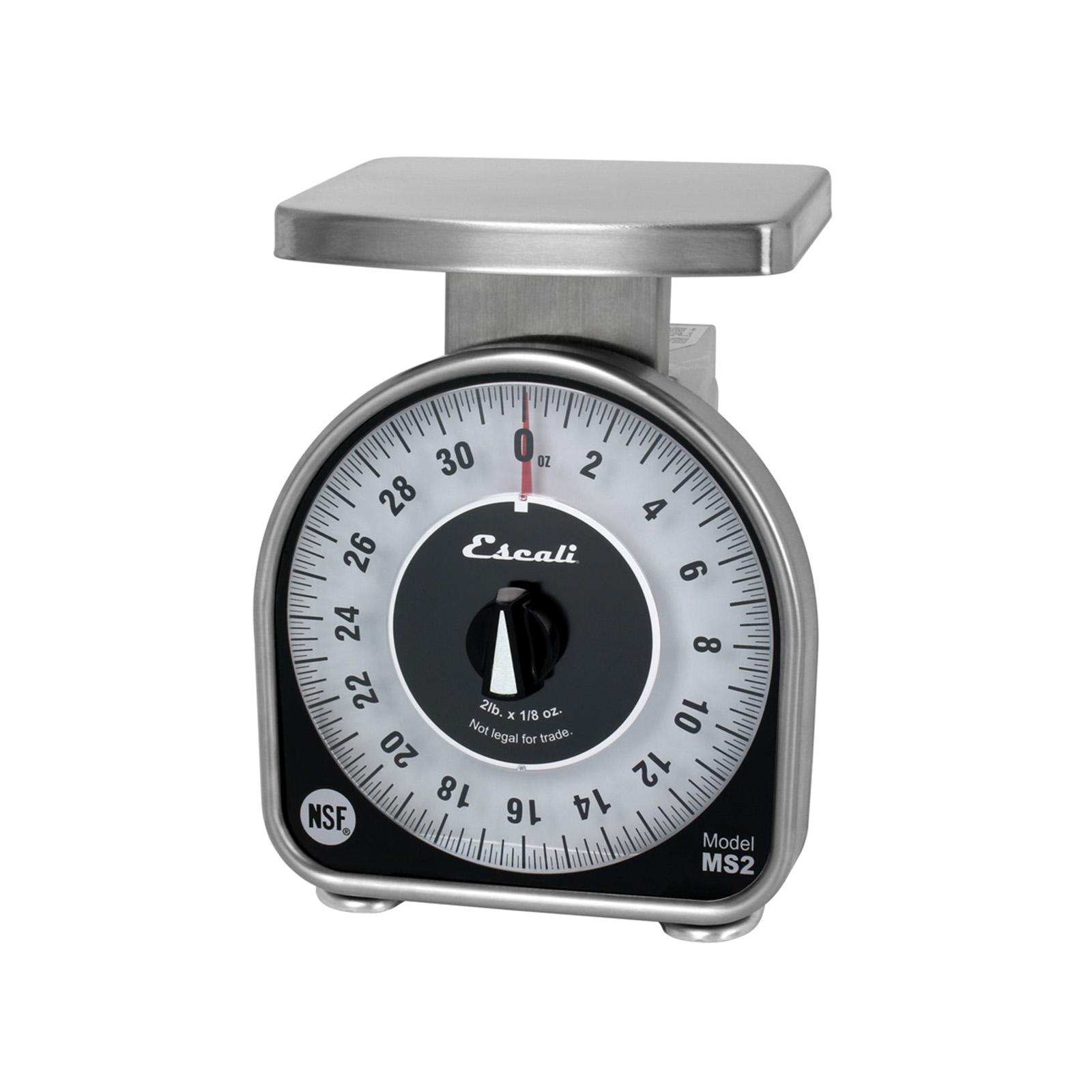 San Jamar SCMDL2 Escali Mechanical Dial Scale 2lb - 4 5/8