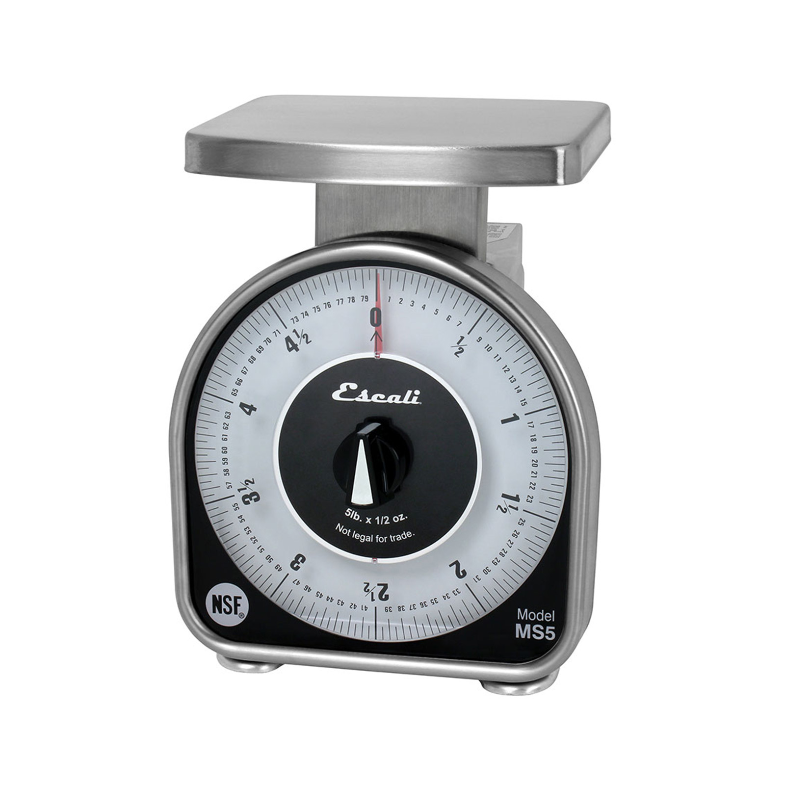 San Jamar SCMDL5 Escali 5 lb Mechanical Dial Scale - 4 5/8