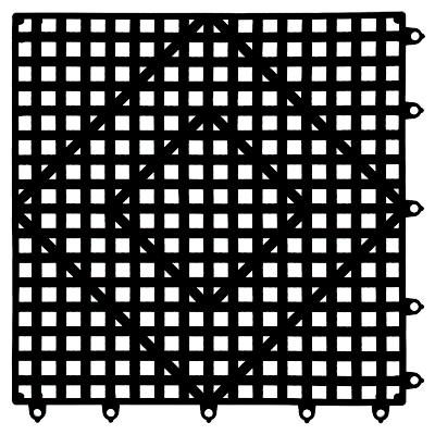 San Jamar VM5280BK-12 bar mat