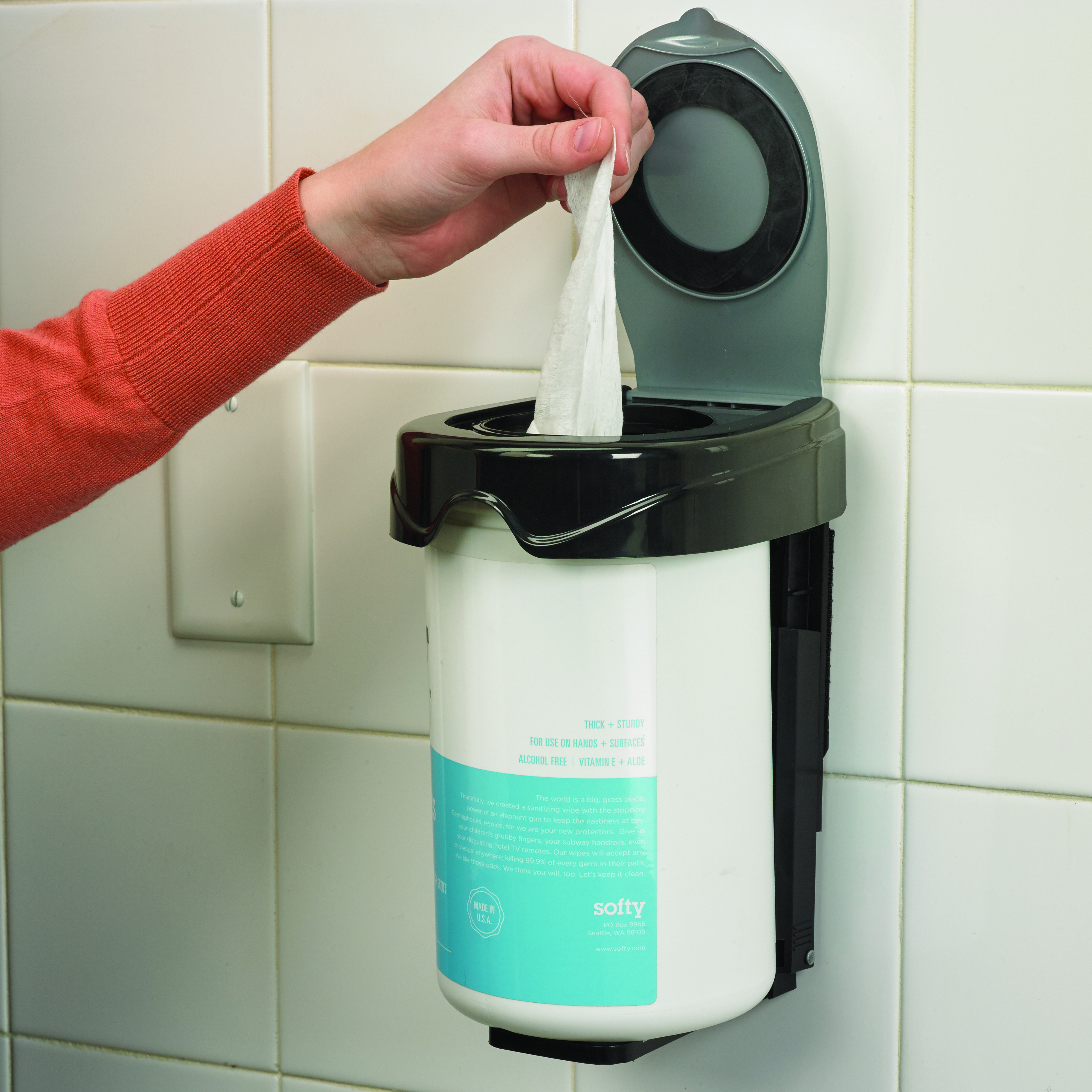 San Jamar WD1010BKSS cleaning cloth / wipes dispenser